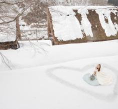 世界遺産五箇山合掌造り雪フォトウェディング&前撮り