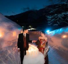 世世界遺産五箇山合掌造り雪フォトウェディング&前撮り