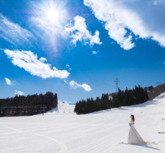 スキー場 雪フォトウェディング&前撮り
