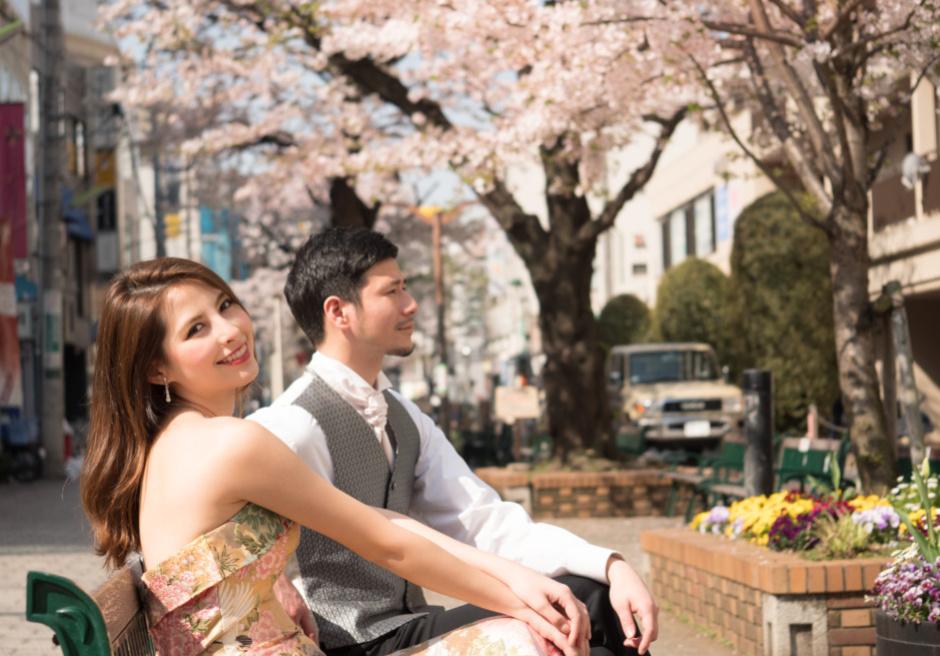 自由が丘 桜フォトウェディング