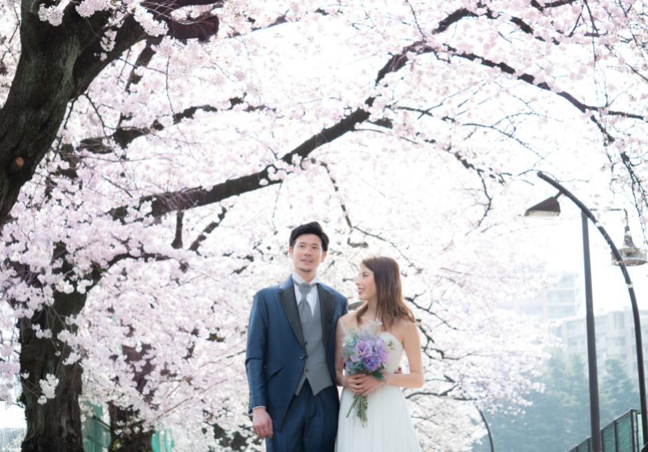 駒沢公園 桜フォトウェディング