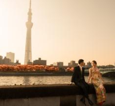 東京スカイツリー 桜フォトウェディング